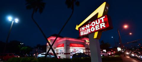 in n out at night