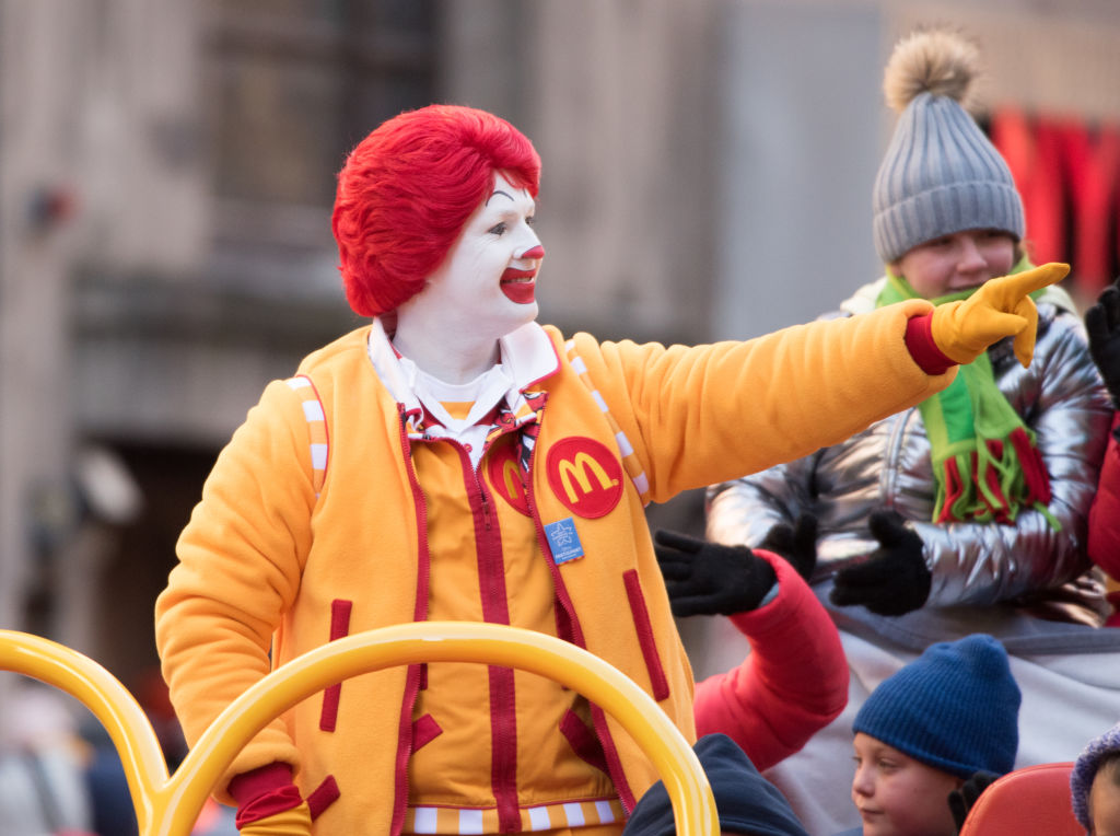 Ronald McDonald attends the 2018 Macy's Thanksgiving Day Parade