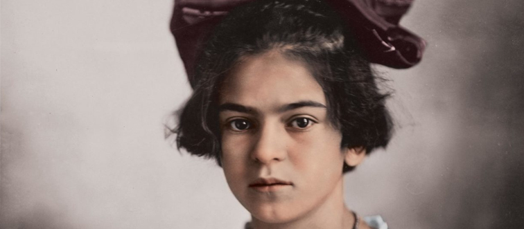 frida kahlo colorized portrait of her as a child
