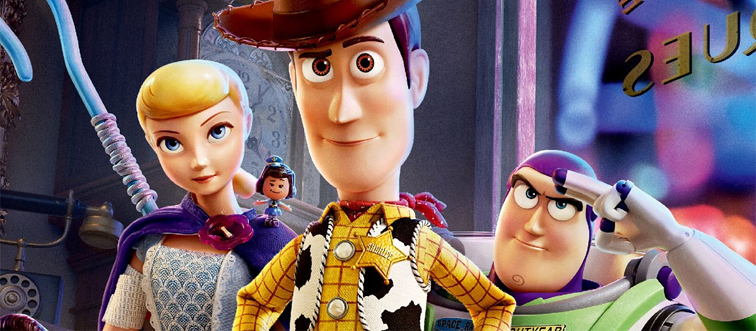 bo peep, woody, and buzz in a still from toy story