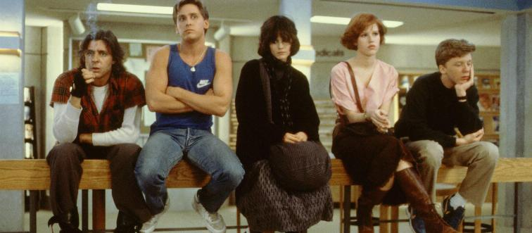 Publicity still of Molly Ringwald, Judd Nelson, Anthony Michael Hall, Ally Sheedy & Emilio Estevez