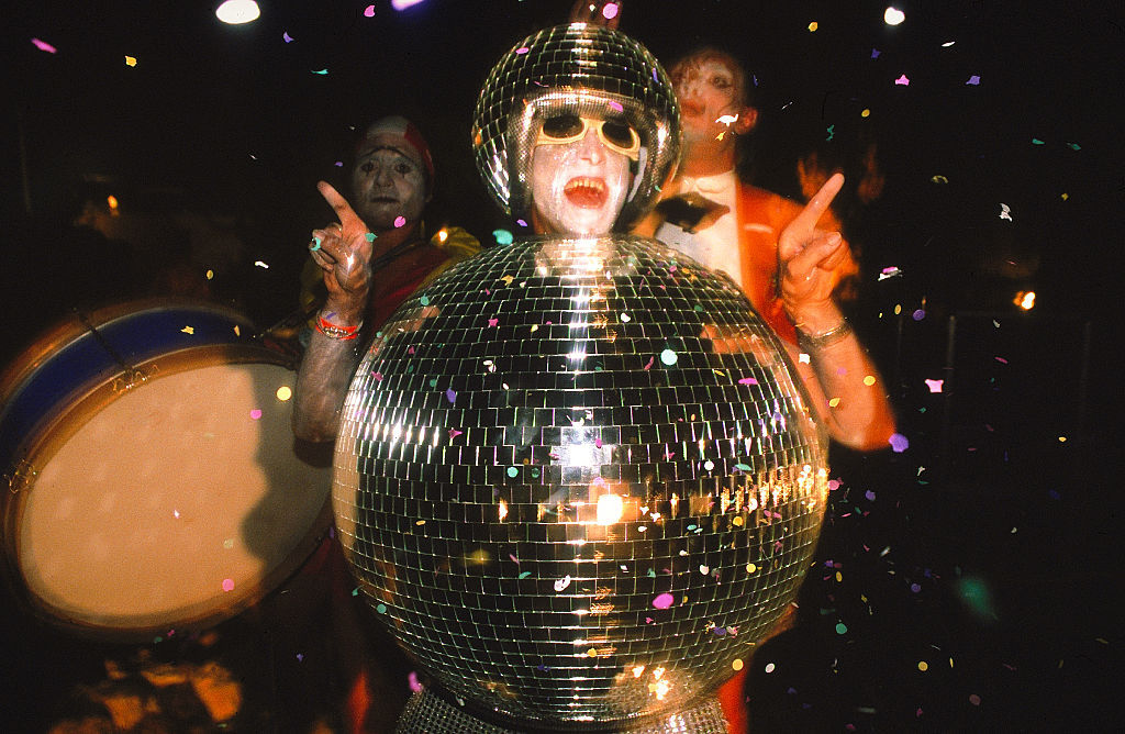 What is the first year we see the disco ball?