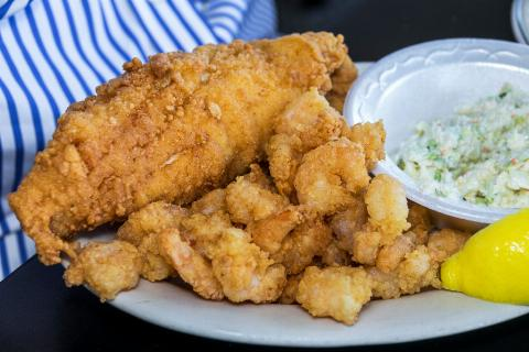 Which North Carolina town is known for its frying batter?