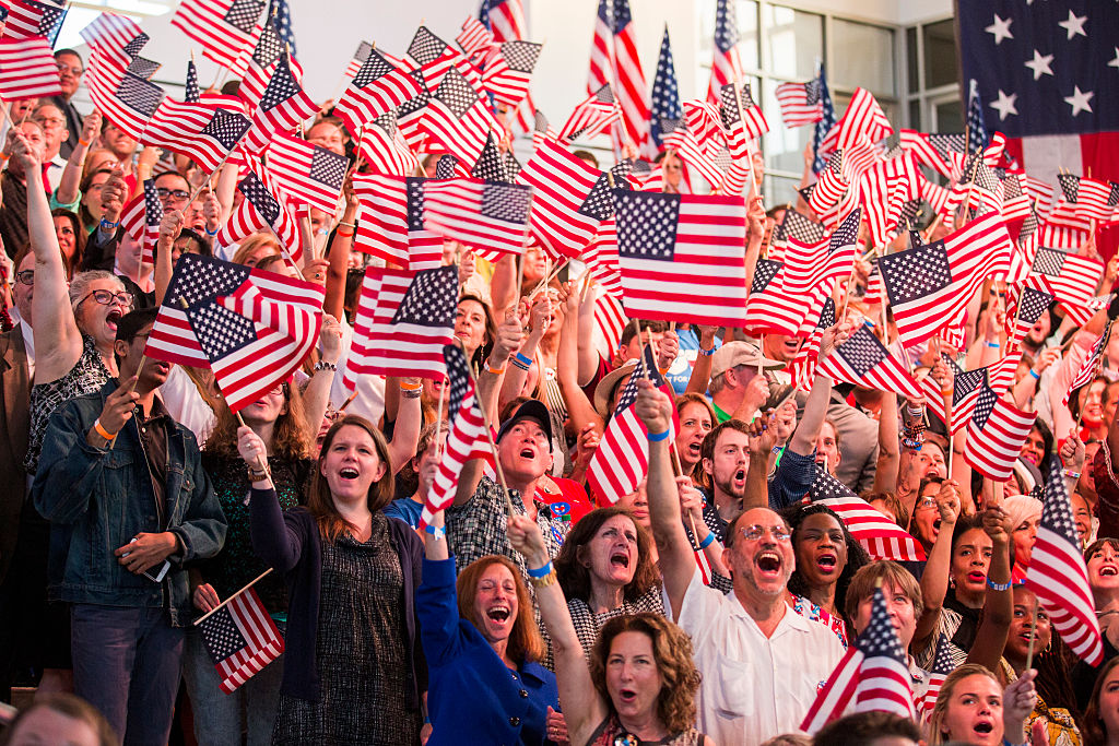 crowd-waving-american-flags