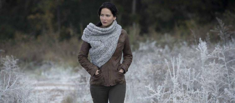 Katniss Everdeen lives in the nation of Panem. This fictional place and protagonist are from which novel?