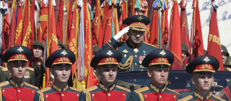 Russians celebrate their history during a parade in Moscow.